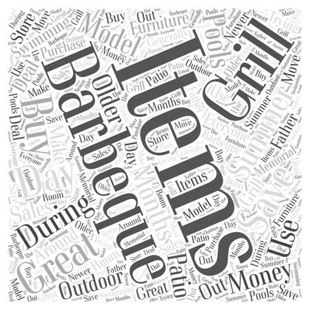 Save Money when you Buy Outdoo Items word cloud concept Ilustração