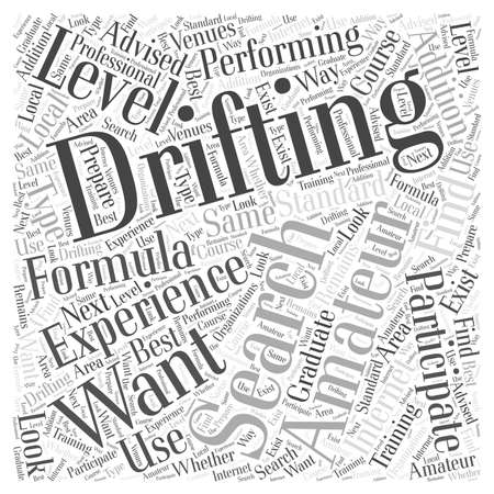 Do You Want to Participate In Amateur Formula Drifting word cloud concept Banco de Imagens - 67300263
