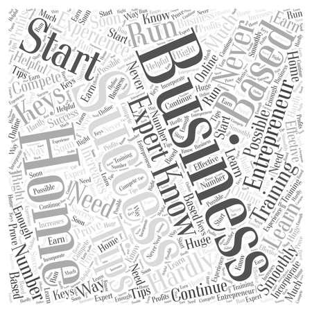 entrepreneur home based business word cloud concept Ilustração
