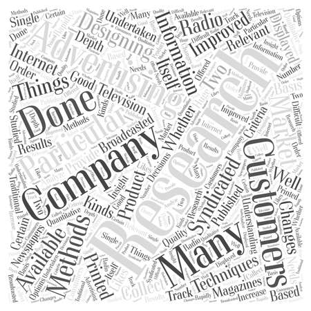 syndicated: Research in Advertising word cloud concept Illustration
