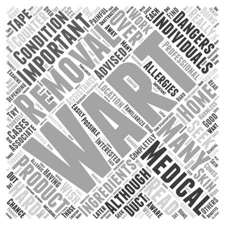 wart: The Dangers of At Home Wart Removal word cloud concept