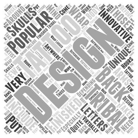 Innovative Tribal Designs word cloud concept