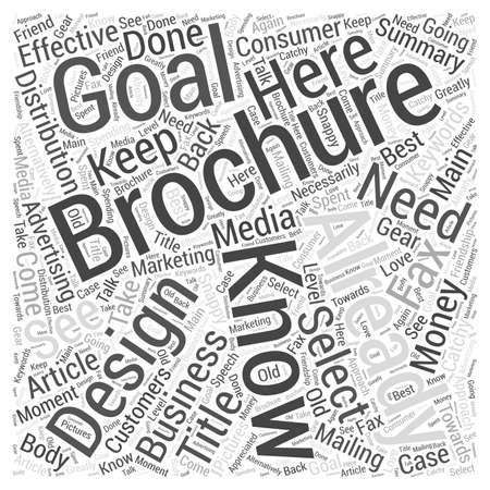 Effective Brochure Design word cloud concept