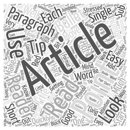 Red Hot tips om uw artikelen Lees woord wolk concept