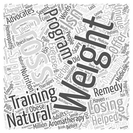 Natural Remedies for Losing Weight The Cross Training Support Program word cloud concept