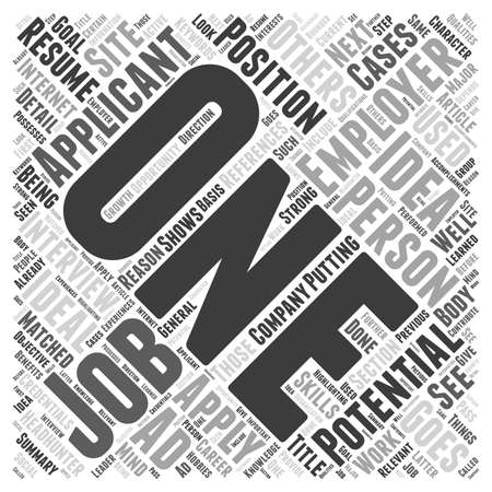 the applicant: The Ideal Resume word cloud concept