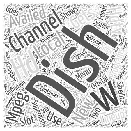 hdtv: dish network hdtv word cloud concept
