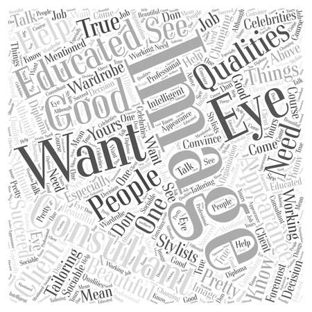 Qualities of a good image consultant word cloud concept