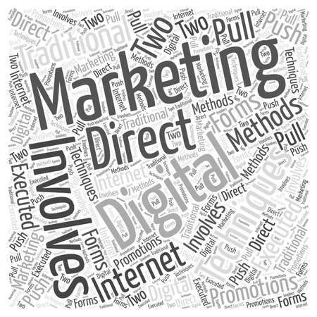 デジタル マーケティング言葉クラウド コンセプト  イラスト・ベクター素材