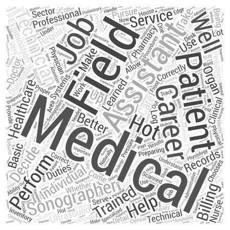 의료 분야 경력 단어 구름 개념 일러스트