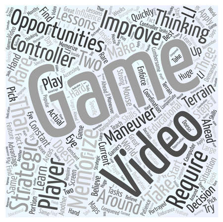 Educational Opportunities in Video Games word cloud concept