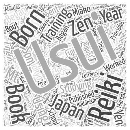 reiki: Reiki Timeline word cloud concept