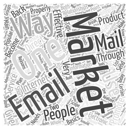 should: direct email marketing word cloud concept