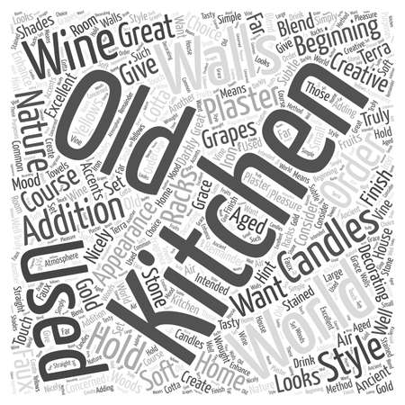 Home Decorating Old World Style word cloud concept