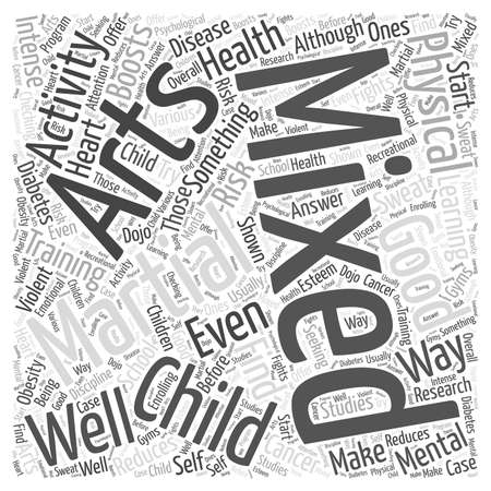 Is Learning Mixed Martial Arts Good For Your Child word cloud concept