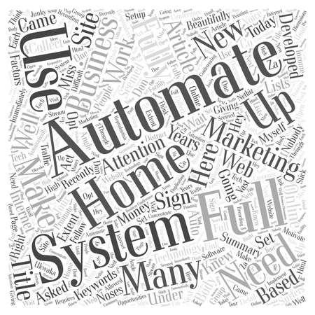 article marketing: Full Automation word cloud concept