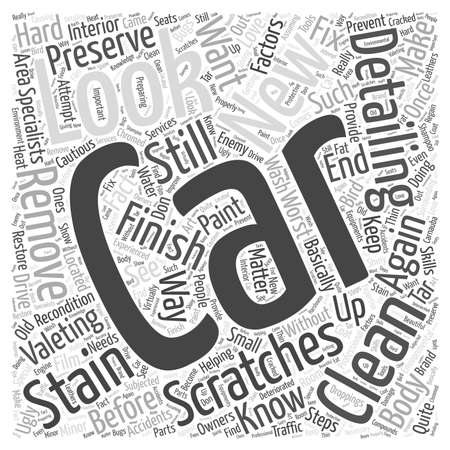 valeting: Car Valeting Helping You Keep Your Car Clean word cloud concept
