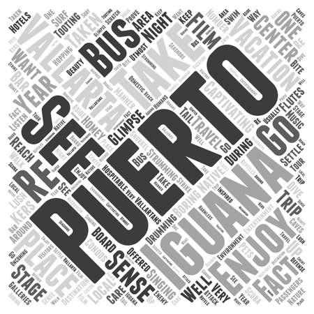puerto vallarta iguana word cloud concept