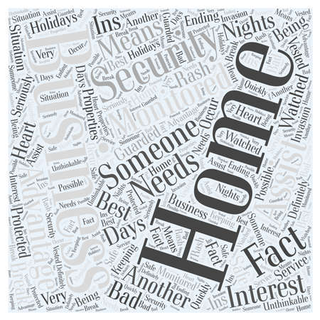 The Advantages of Monitored Home and Business Security word cloud concept
