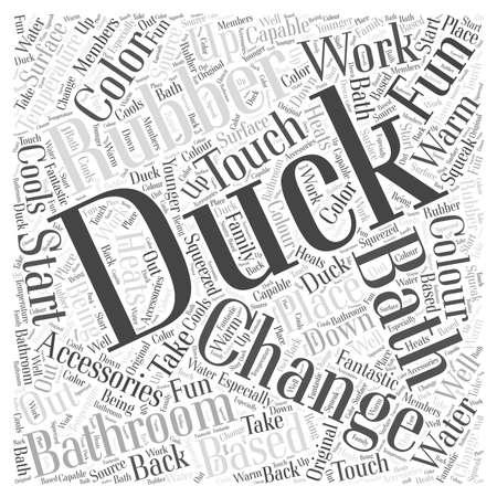 bathroom duck: rubber duck bathroom accessories word cloud concept