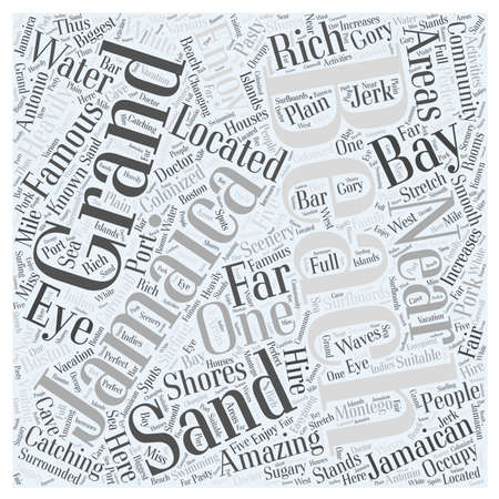 jamaican: jamaican beaches word cloud concept Illustration