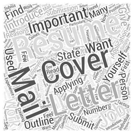 importance: Resume Submission The Importance of Cover Letters word cloud concept