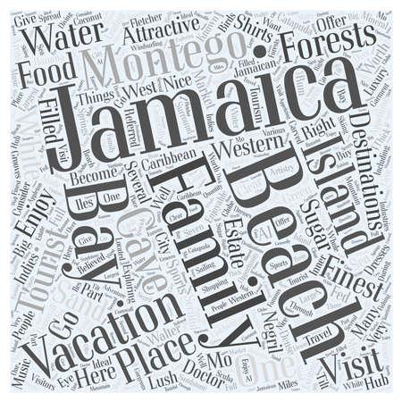 Jamaica familia vacaciones palabra nube concepto Foto de archivo - 67300393