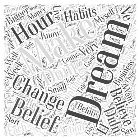 for a dream: Do You Dream BIG Dreams For Your Online Business word cloud concept Illustration