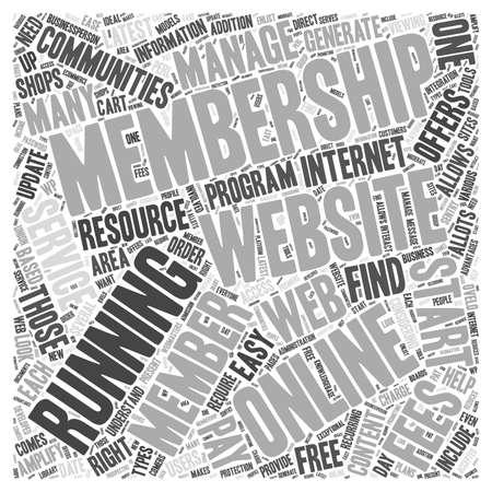 Resource for Running a Membership Website word cloud concept Illusztráció