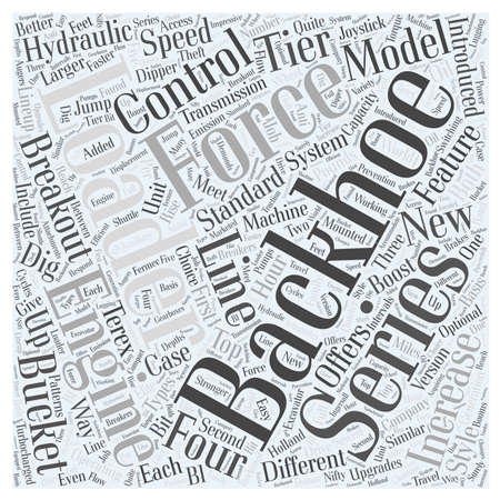 breakout: Different Types Of Backhoe Loaders word cloud concept