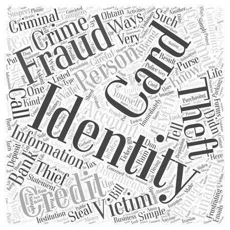 protection from identity theft word cloud concept