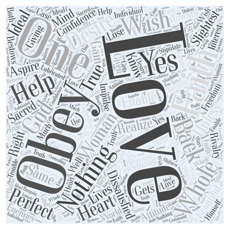 LOVE AND FAITH word cloud concept Illustration