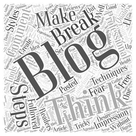 free blogging word cloud concept