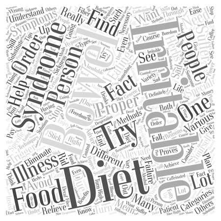 bowel: Proper diet for irritable bowel word cloud concept Illustration