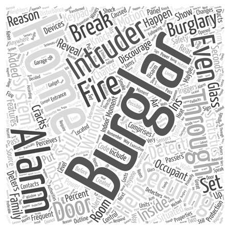 burglar alarm: home burglar alarm word cloud concept Illustration