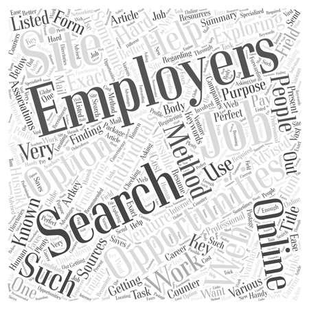 Werkgelegenheidsmogelijkheden Door Tom Husnik woordwolkconcept Stockfoto - 67300441