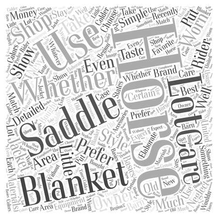 blankets: Saddles and Horse Blankets word cloud concept