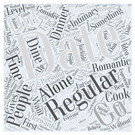 Regular Dating word cloud concept