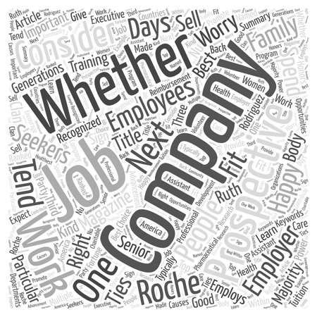 How Happy Will You Be In Your Next Job word cloud concept Ilustracja