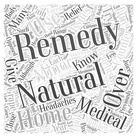 Natural Remedies Why You Should Give Them a Try word cloud concept