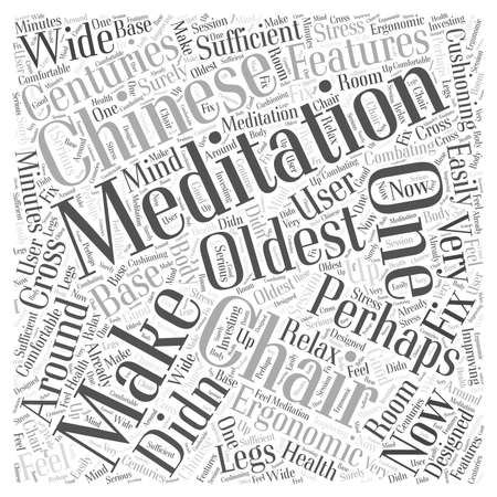 Meditation Chairs word cloud concept