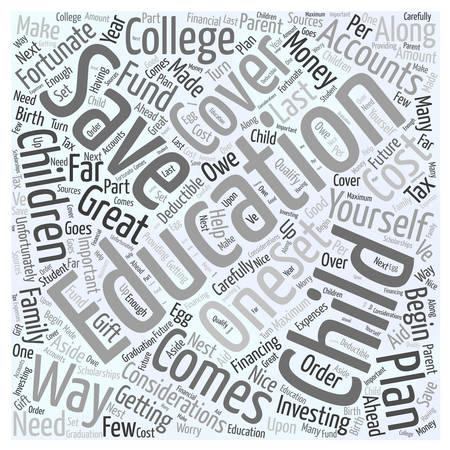 Educational Savings Accounts word cloud concept