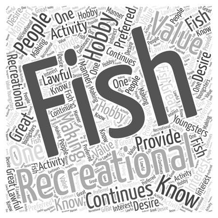 lawful: fishing as a hobby word cloud concept Illustration