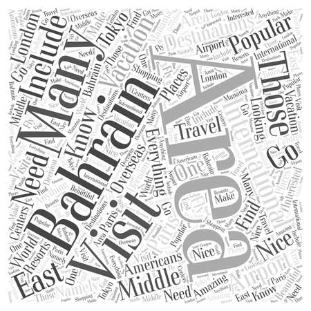 Everything You Need to Know About the Bahrain International Airport word cloud concept Çizim
