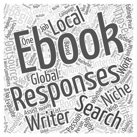 Finding A Writer For Your Niche Ebook word cloud concept