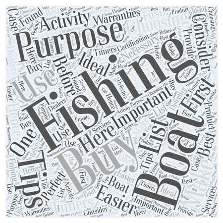 SF fishing boats buying tips word cloud concept