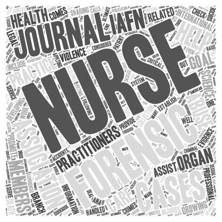 forensic: forensic nursing journals word cloud concept