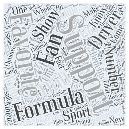 Formula D Fans Support Your Favorite Driver word cloud concept