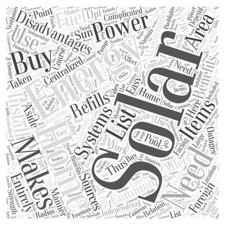 solar home: solar home energy word cloud concept