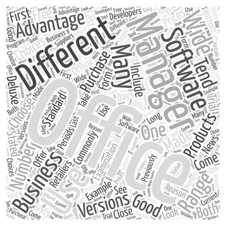 should: Should Your Business Use Office Management Software word cloud concept